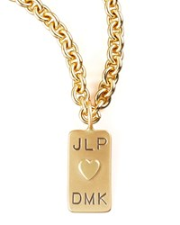 Mini Initial Tag Heart Charm Heather Moore Gold