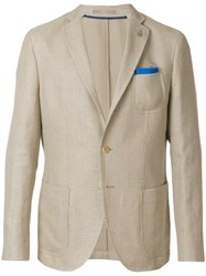 Paoloni Classic Fitted Blazer Nude And Neutrals
