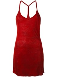 Thom Krom Tank Top Red