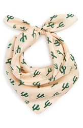 Sole Society Women's Cactus Silk Scarf