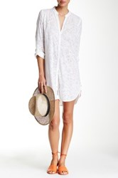 Ganesh Printed Shirt Dress White