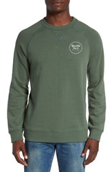 Brixton Men's 'Wheeler' Graphic Crewneck Sweatshirt Cypress