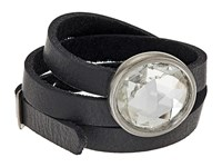 Leather Rock B851 Black Bracelet