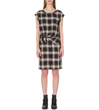 Allsaints Heny Checked Dress Black Check