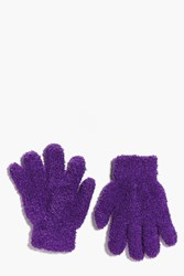 Boohoo Thermal Snow Soft Magic Gloves Purple
