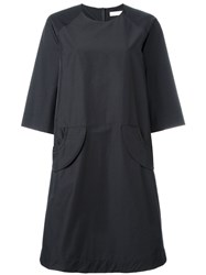 Peter Jensen Pocket Smock Dress Black