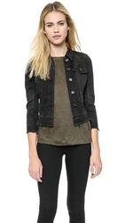 Blank Frayed Jean Jacket Little Black Box