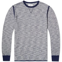 Officine Generale Piping Crew Sweat Navy Melange