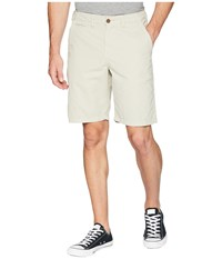 True Grit Heritage Chino Shorts Hand Treated Washed With Stitch Detail Smoke Gray