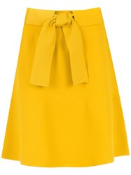 Egrey Belted A Line Skirt Yellow