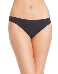 Dkny Solid Microfiber Thong Black