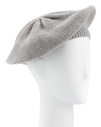 Portolano Knit Cashmere Beret Light Gray