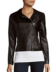 Candc California Zip Front Moto Jacket Black
