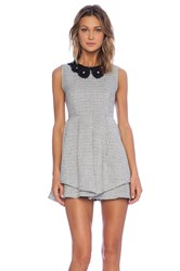 Sister Jane Scallop Collar Dress Black And White