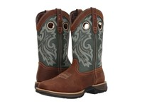 Durango Rebel 12 Western Square Toe Saddlehorn Clover Cowboy Boots Brown