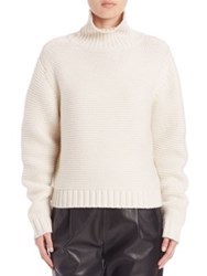 Vince Solid Long Sleeve Sweater Winter White