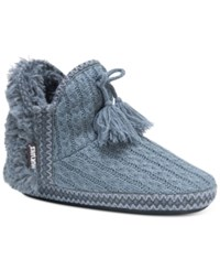 Muk Luks Amira Slide Boot Slippers Pewter