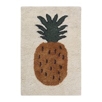 Ferm Living Fruiticana Tufted Pineapple Rug Neutral