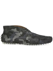 Car Shoe Camouflage Print Boots Blue