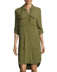 1.State Patch Pocket Shirtdress Green