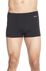 Men's Naked 'Luxury' Micromodal Trunks Black