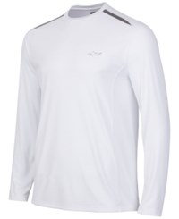 Greg Norman For Tasso Elba Men's Big And Tall Long Sleeve Mesh Inset T Shirt Only At Macy's Bright White