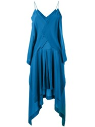Kitx Long Draped Dress Blue