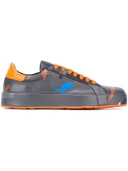 Jil Sander Abstract Print Sneakers Grey