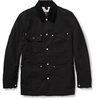 Undercover Carhartt Distressed Cotton Canvas Utility Jacket Black