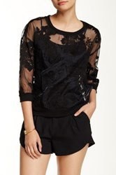 Romeo And Juliet Couture Lace Sweatshirt Black