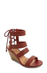 Matisse Women's Whimsy Wedge Sandal Rust Leather