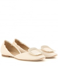 Roger Vivier Chips Patent Leather Ballerinas White