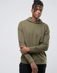 Selected Homme Hoodie With Dropped Shoulder Olive Nights Green