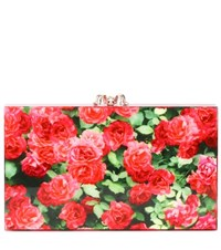 Charlotte Olympia Pandora Embellished Clutch Red