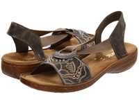 Rieker 608B9 Regina B9 Smoke Women's Sandals Gray