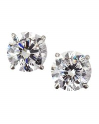 Fantasia 14K White Gold Cubic Zirconia Stud Earrings 2.5 Tcw