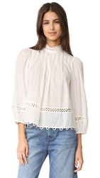 Apiece Apart Tula High Neck Blouse White