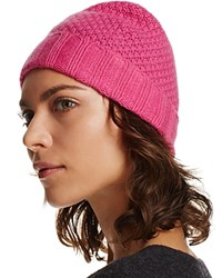 Bloomingdale's C By Waffle Knit Cashmere Hat Blossom