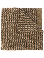 Twin Set Knitted Scarf Nude And Neutrals