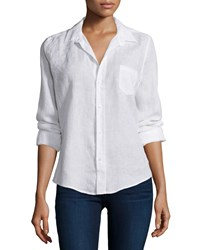 Frank And Eileen Barry Long Sleeve Shirt White