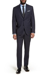 Ted Baker London Jay Trim Fit Plaid Wool Suit Navy