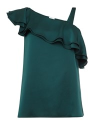 Linea Clemmie One Shoulder Cami Top Green