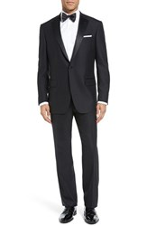 Hart Schaffner Marx Men's Big And Tall 'New York' Classic Fit Black Wool Tuxedo