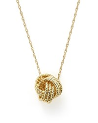 Bloomingdale's 14K Yellow Gold Love Knot Necklace 18