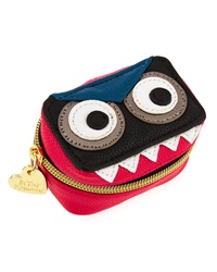 Betsey Johnson Monster Faux Leather Contact Case Fuchsia