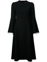 Le Ciel Bleu Flared Sleeve Dress Black