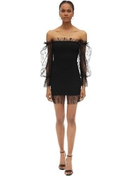 Alice Mccall Stretch Mini Dress W Lace Black