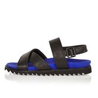 River Island Mens Black Strap Sandals