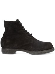 Guidi Lace Up Boots Men Leather Suede 44 Black