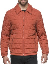 Marc New York Mechanics Diamond Quilted Jacket Rust